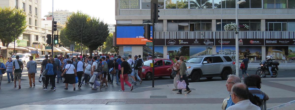 Plaza de Viña esquina Calle Valparaíso.